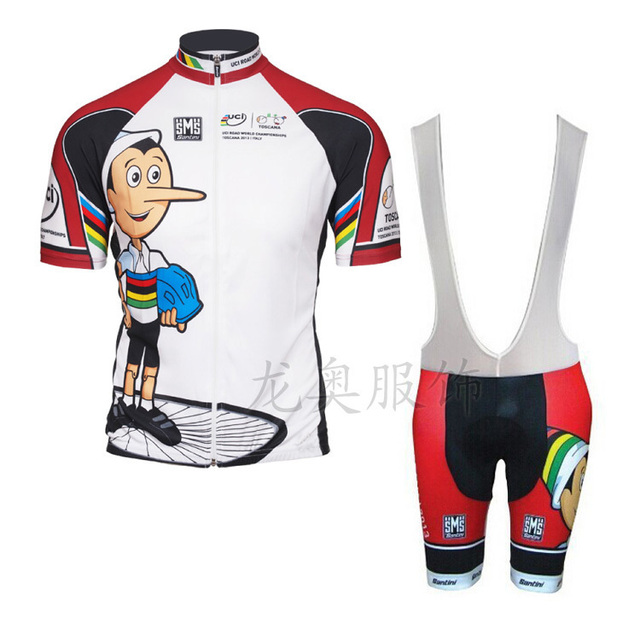2015 Santini uci funny cycling jerseys Pinocchio commemorative shirt  maillot ciclismo summer shorts jersey set free shipping 3041425e7