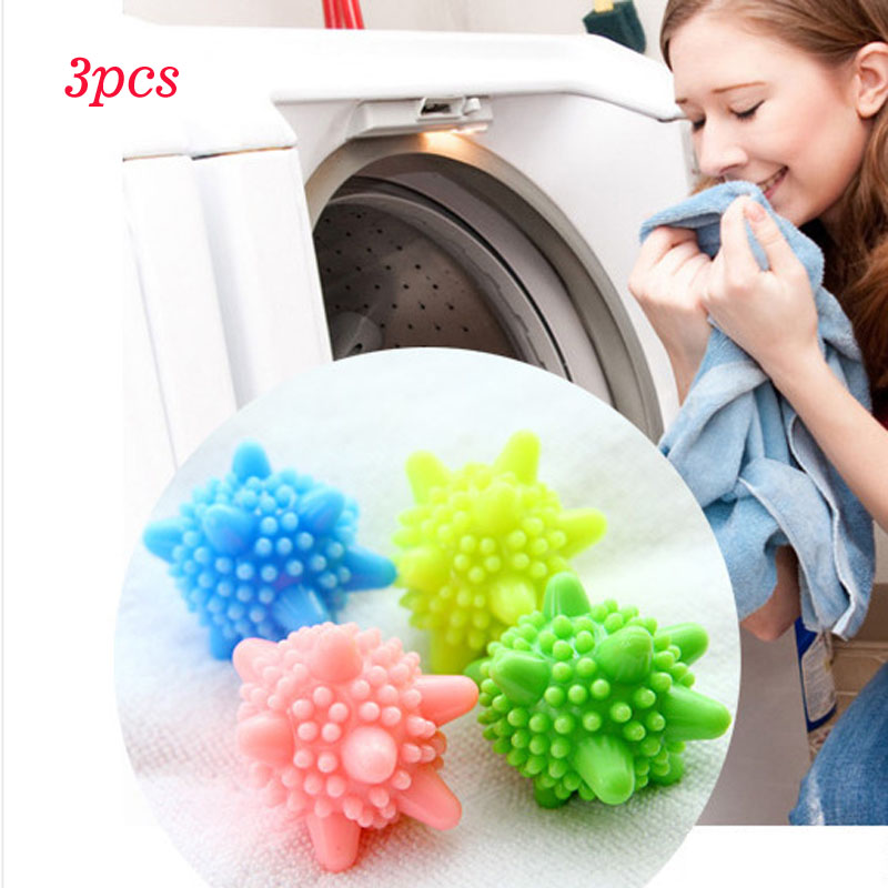 3pcs Colored Detergent Winding Preventing Cleaning Cleaner Magic Laundry Washing Ball Wash Laundry Ball ...