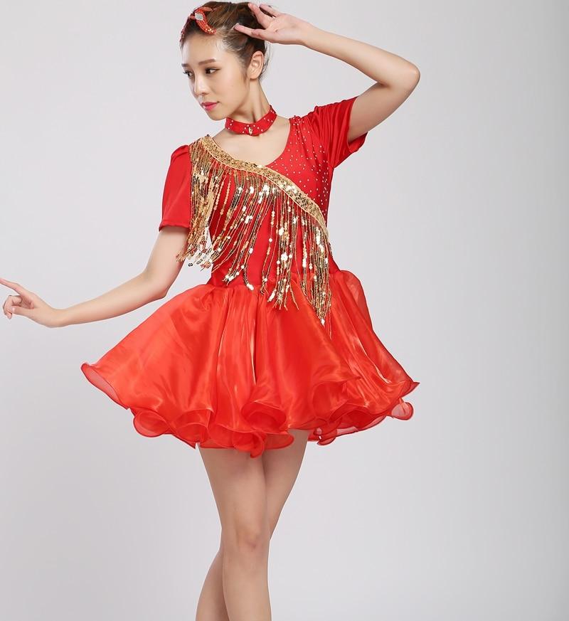 Dance Dress Skirt Tango Salsa Ballroom Competition Practice Women Scarf Bandage