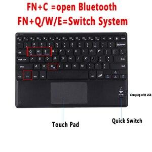 Image 4 - Funda de teclado TouchPad para Samsung Galaxy Tab S5E 10,5 2019 SM T720 T720 T725, Funda de cuero inteligente, separador de Teclado + bolígrafo
