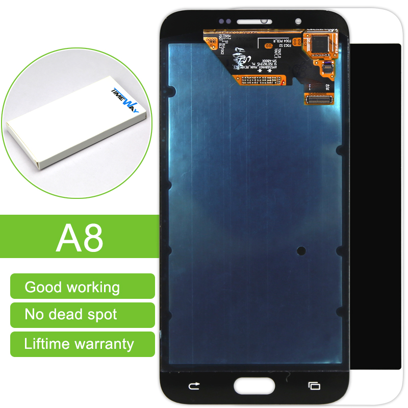 Time-limited 5pcs/lot 100% New Lcd Display Touch Screen Digitizer Assembly For Samsung A8 A8000 White/blue Free Dhl Shipping 5pcs lot official original new a quality screen for 6s lcd display black white