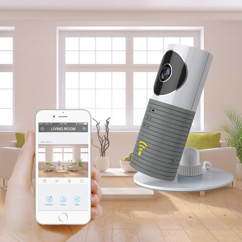 Home Security Camera Fish Eye Lens IP Camera WiFi Baby Monitor WiFi Camera Two Way Voice Panoramic Camera
