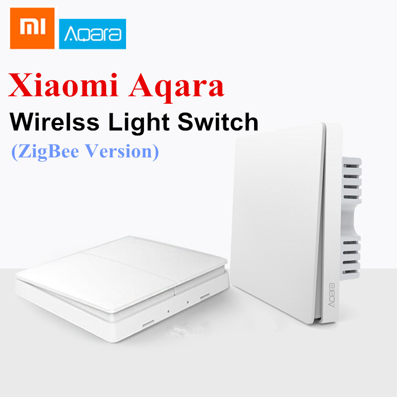 Xiaomi Aqara Wall Switch Smart Light Switch Control ZigBee Version Wireless Connection Single Double Key Smart Remote Control