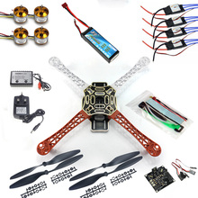 F02192-B RC Quadcopter 4 axle Drone ARF Kit No TX RX : KK V2.3 Flight Control A2212 1000KV Motor 30A ESC Lipo F450 Flamewheel