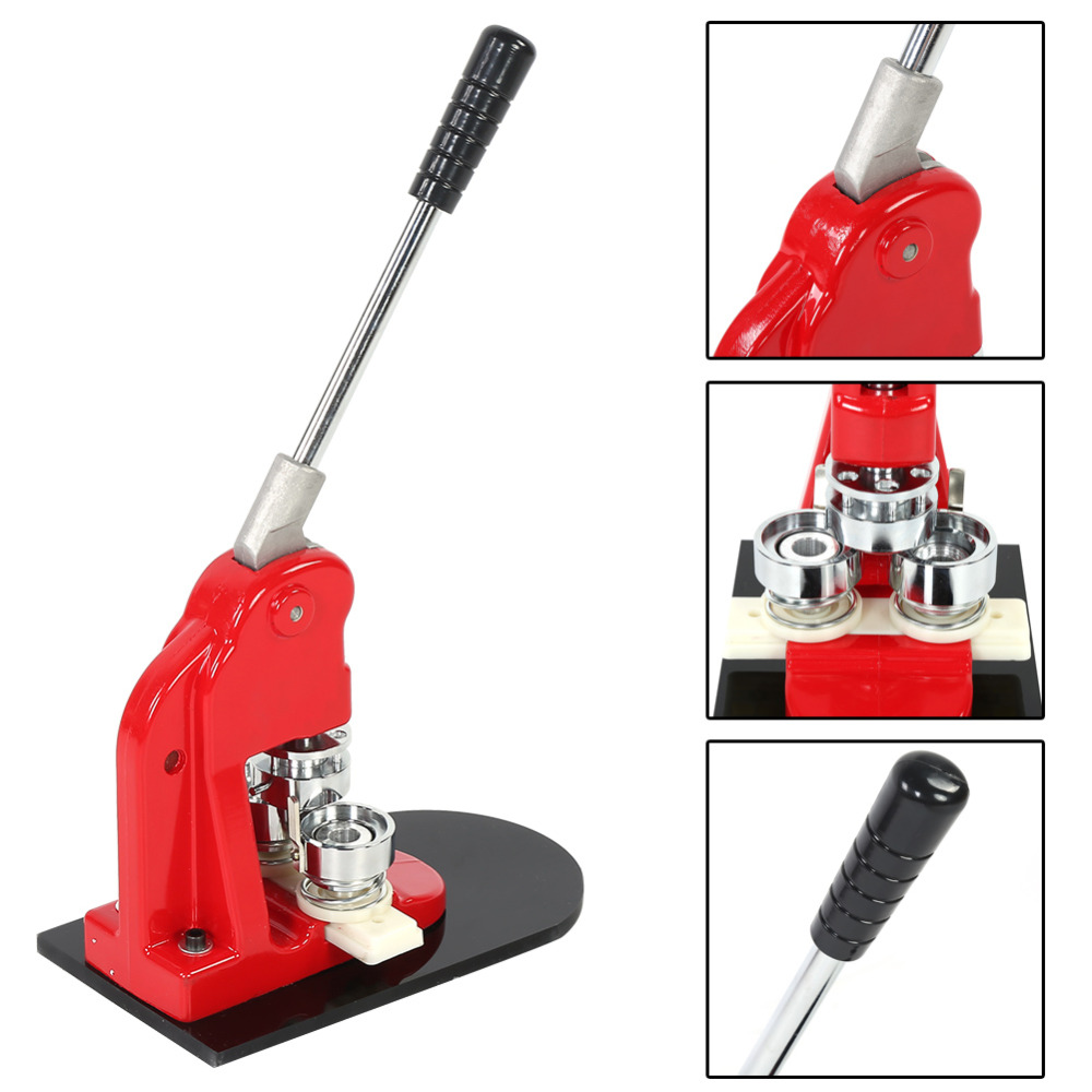 3.2cm / 1.26 Circle Cutter Tool 2.5cm / 0.98 5.8cm / 2.28 Badge Punch Press Maker Machine With 1000 Circle Button Parts