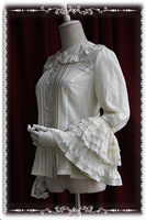 High Quality European Medieval Vintage Style Sweet Lolita Shirt Cosplay Costumes