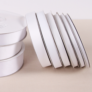 """White Color Grosgrain Ribbon Polyester 1/8"""" 1/4"""" 3/8""""1/2"""" 5/8"""" 3/4"""" 7/8"""" 1"""" 1-1/2"""" 2""""3"""" 4"""" 3mm 6mm 9mm 19mm 22mm 25mm 38mm(China)"""