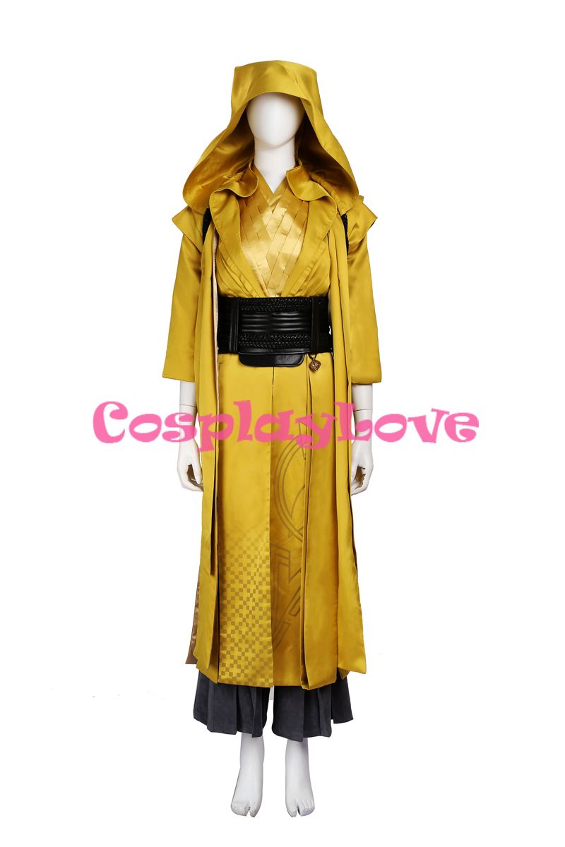 Newest Movie Doctor Strange Clothing Superhero Costume Ancient One Cosplay Costume Custom Made Yellow Combat for Adult