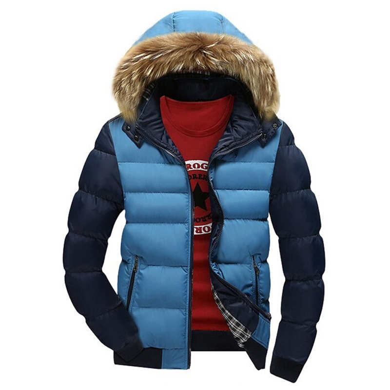 2017 New Winter Jacket Men Thick Warm Fur Hooded Collar Coat Mens Casual Outwear Jackets Mens Parka Homme Chaquetas Coats
