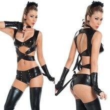 Женское сексуальное нижнее белье, искусственная кожа, латекс, кошка, для женщин, Косплей клуб, вечерняя одежда для вечеринки, костюм женщины-кошки на Хэллоуин, костюмы для взрослых