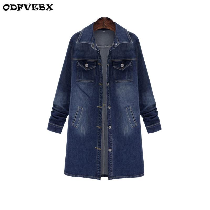Fashion Spring New 2019 Plus Size Women Cowboy Coat Jacket