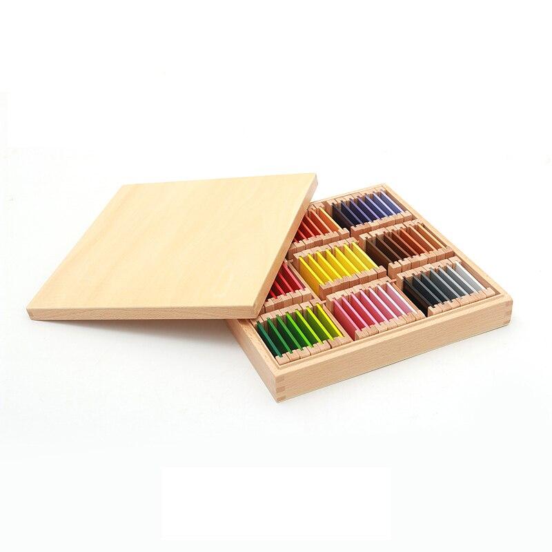 Montessori jouets en bois Montessori couleur comprimés sensoriel apprentissage jouets éducatifs pour les tout-petits Juguetes Brinquedos MG1144H - 2