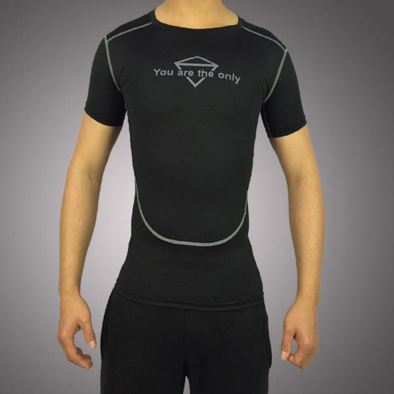 Workout Clothes For Men 2016 High Quality Gym Tee Shirt Outdoor Sports Quick-drying Stretch Short Sleeves Compression Tights
