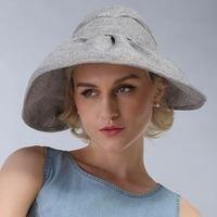 100 Good Queality Flat Sun Hat Women S Bow Straw Summer Hats For Women Beach Hat