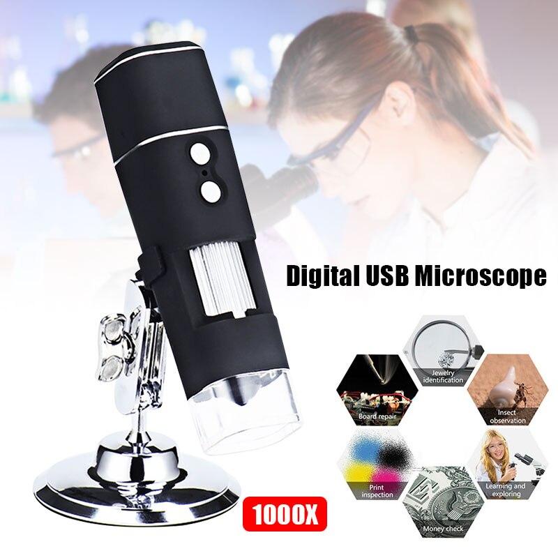 Amable Microscopio Electrónico Portátil 1080 P 8 Luces Led Wifi Usb 1000x Ordenadores En Tiempo Real Herramienta De Monitoreo De Oreja De Vídeo Fortalecimiento De La Cintura Y Los Tendones