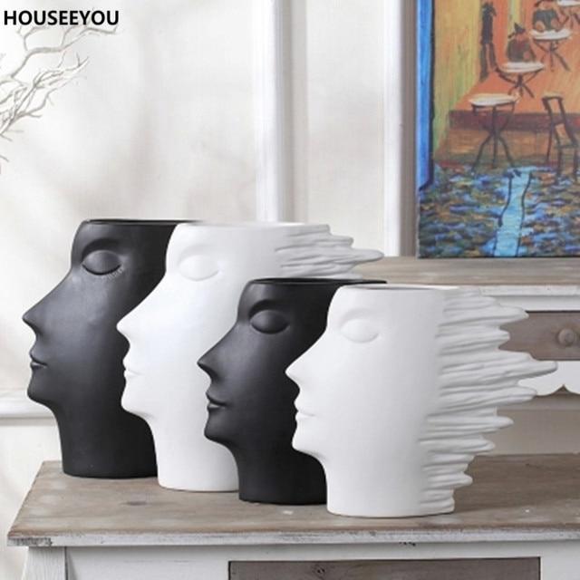aliexpress koop moderne minimalistische wit zwart vazen home