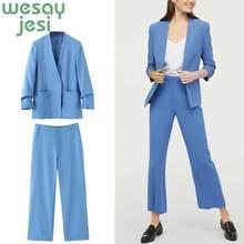 Women elegant blazer Female long sleeve office ladies 2019 pocket Autumn jacket women outerwear coats