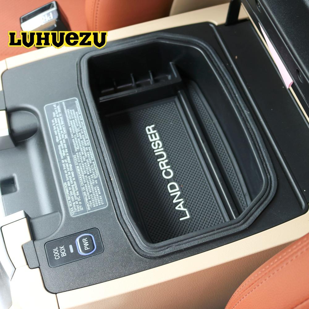 Prix pour Non-Slip Mat Dans Central Accoudoir Container Titulaire Boîte de Rangement Pour Toyota Land Cruiser 200 FJ 200 Accessoires 2004-2016