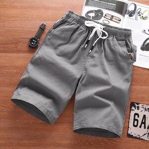 2020 Men's Summer Leisure Short Pure Color Loose Comfortable Male Five-cent Trousers Cotton Belted Beach Short Men Pants Bermuda