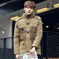 2016 Parka Men Winter Jackets Warm Outwear Fur Hooded Coats Casual Mens Winter Warm Overcoat Duck Down Coats Winter Male Jackets