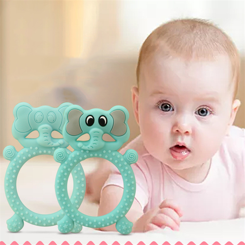 Baby Teether Food Grade Silicone Pacifier Cartoon Teething Nursing Necklace Toy