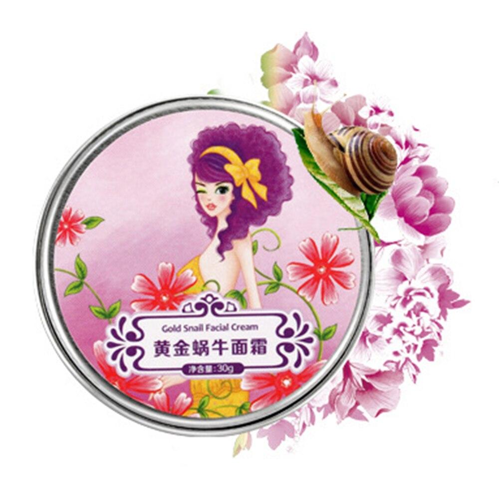 Gold Snail Cream 30g Moisturizing Instantly Anti Wrinkle Whitening Snail Face Day Cream Women Face Care