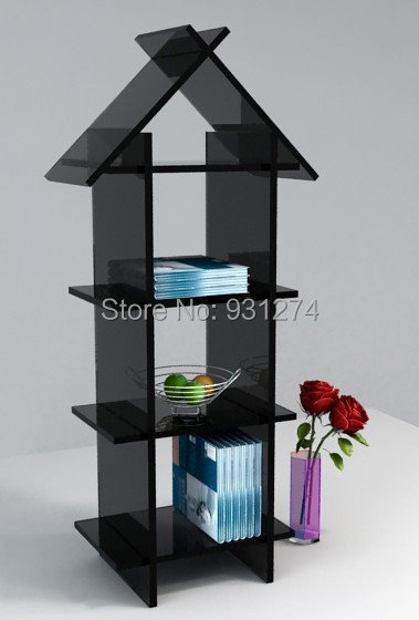 Free Shipping Floor Standing Acrylic Bookshelf Bookcase Cabinet For Home Kd Packed