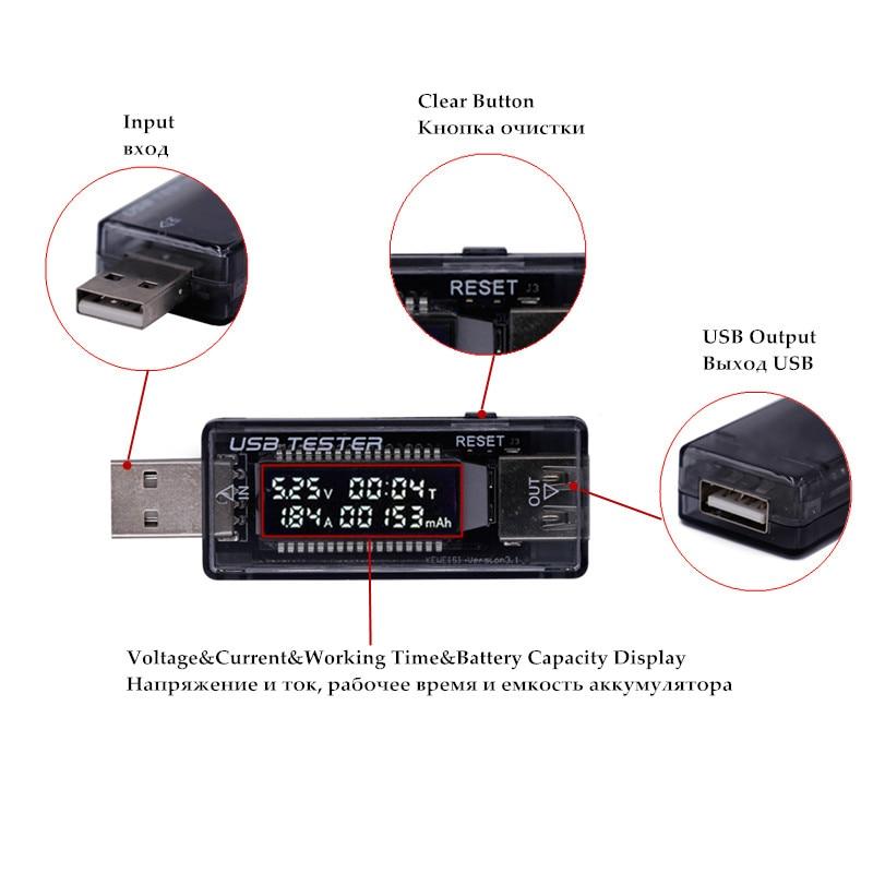 USB 5 V 9 V 12 V 20 V QC 2.0 3.0 LCD Srovės įtampos įkroviklio - Matavimo prietaisai - Nuotrauka 2