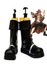 Portuguese D. Ace Scarpe Cosplay Anime One Piece Ace Pugno di Fuoco Cosplay  Stivali Nero 251af929c667