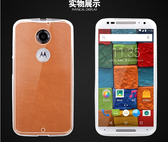 factory price e51ef 00eac US $2.15 |0.3 mm Ultra Thin Transparent Soft TPU Back Cover Case For  Motorola Moto X 2014 XT1097 For Motorola Moto X2 2nd Gen Case,Free-in ...