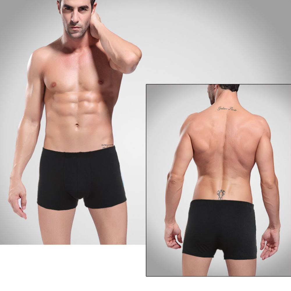 4PCS/Lot Panties Mens Boxers Soft Breathable Organic Cotton Underwears Male Sexy Ventilate Boxers Male Shorts Underpants 2017