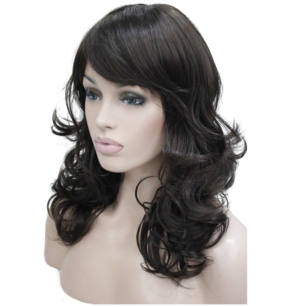 strongbeauty femmes de perruque bob long ondulé posé cheveux noir
