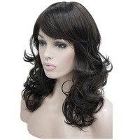 StrongBeauty Femmes de Perruque Bob Long Ondulé Posé Cheveux Noir/Auburn Synthétique Pleine Perruque 8 Couleur