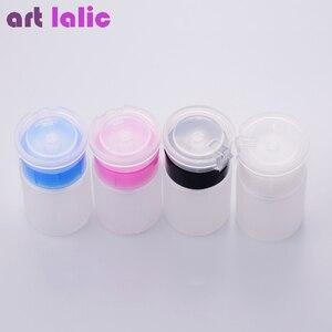 Image 2 - 75 мл мини дозатор для ногтей, пустая бутылка, средство для снятия акрилового гель лака, жидкий контейнер для хранения, маленькая бутылка под давлением