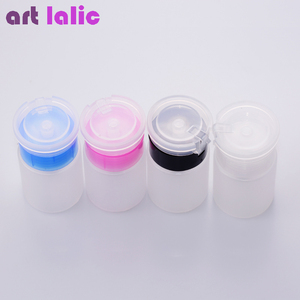 Image 2 - 75ML Nail Art Mini pompe distributeur bouteille vide Gel acrylique dissolvant de vernis nettoyant liquide conteneur stockage petite bouteille de pression