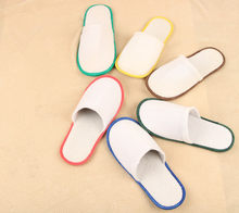 20 pairs of White Towelling Hotel Disposable Slippers Terry Spa Guest Shoes 6 colors(China)