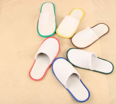 1//5//10 pairs disposable closed toe guest slippers hotel spa slipper shoes/_WK