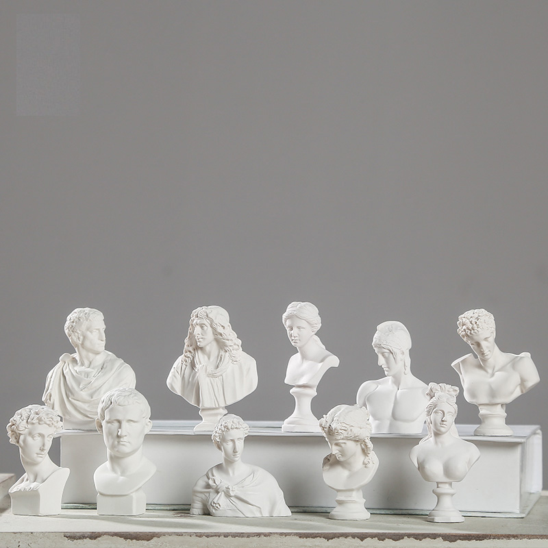 Welt Berühmte Statue Mini Abbildung Moliere/Ares Gips Figur Dekoration Resin Büste Skizze praxis Modell/harz skulptur/handwerk