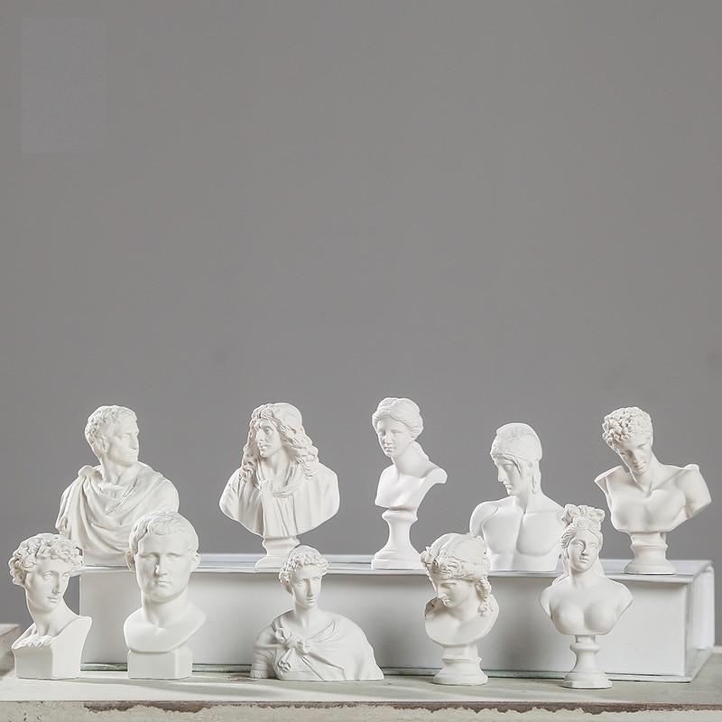 World Famous Statue Mini Figure Moliere/Ares Plaster Figure Decoration Resin Bust Sketch Practice Model / Resin Sculpture/Crafts
