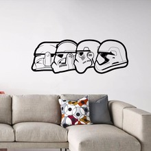 Star Wars Wall Decal Storm Trooper Faces Vinyl Sticker Home Office Decoration New Design Wallpaper AY1238