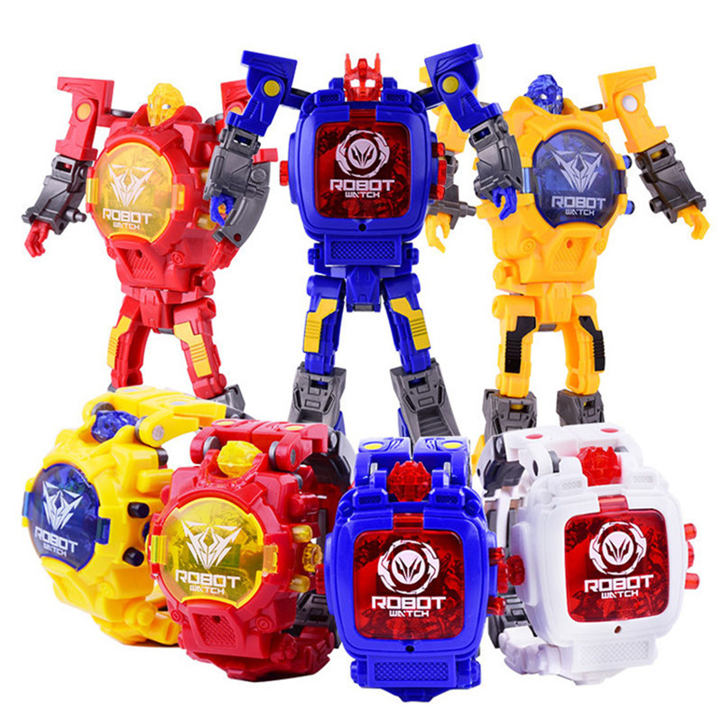 Creative Children Watch Transformers Electronic Watch Kid Robot Educational Toys Sport Digital Kids Watches Boy Girl Clock Gift