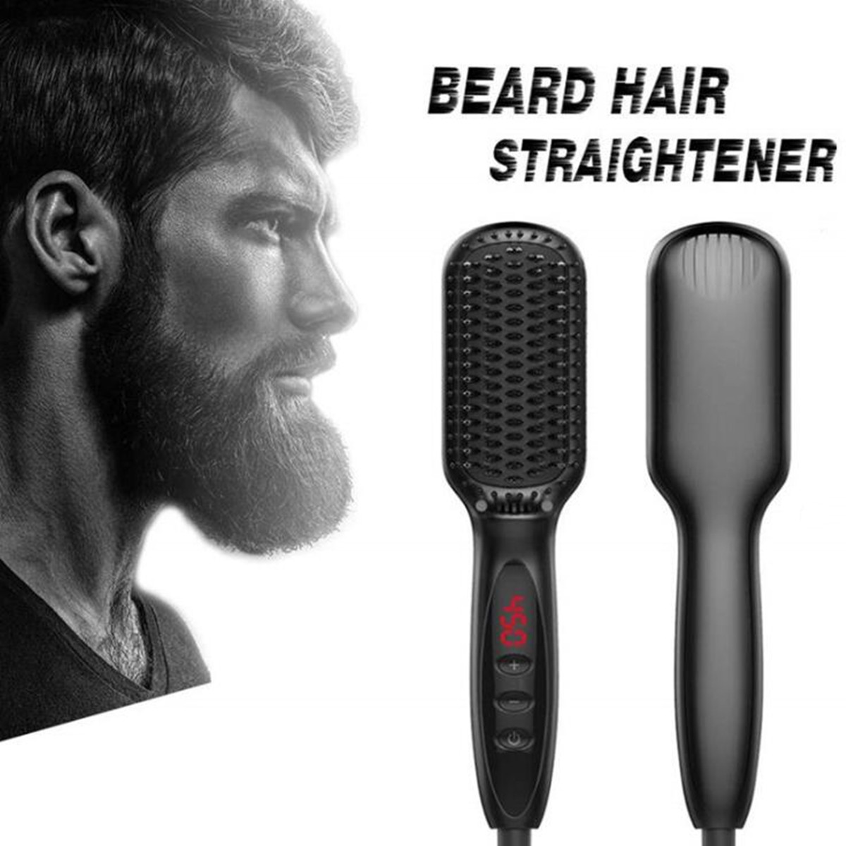 110-220V Comb Men Quick Beard Straightener Irons Hair Straightener Styling Tools with LCD Beard Styling Detangling Straightening110-220V Comb Men Quick Beard Straightener Irons Hair Straightener Styling Tools with LCD Beard Styling Detangling Straightening