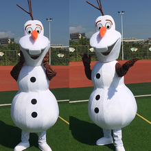 Adult New Smiling Olaf Mascot Costume Snowman Clothing  Cartoon Character