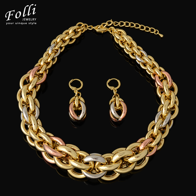 Gold Italy Platinum: 2016 New High Quality Italy 750 Real Gold Plated Jewelry