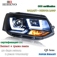 Hireno Car Styling Headlamp For 2012 2016 Volkswagen Multivan T5 Headlight Assembly LED DRL Angel Lens