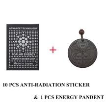 Высокие отрицательные ионы здоровья набор 10 шт. анти-Радиационная наклейка щит и 1 шт. энергии Pandent