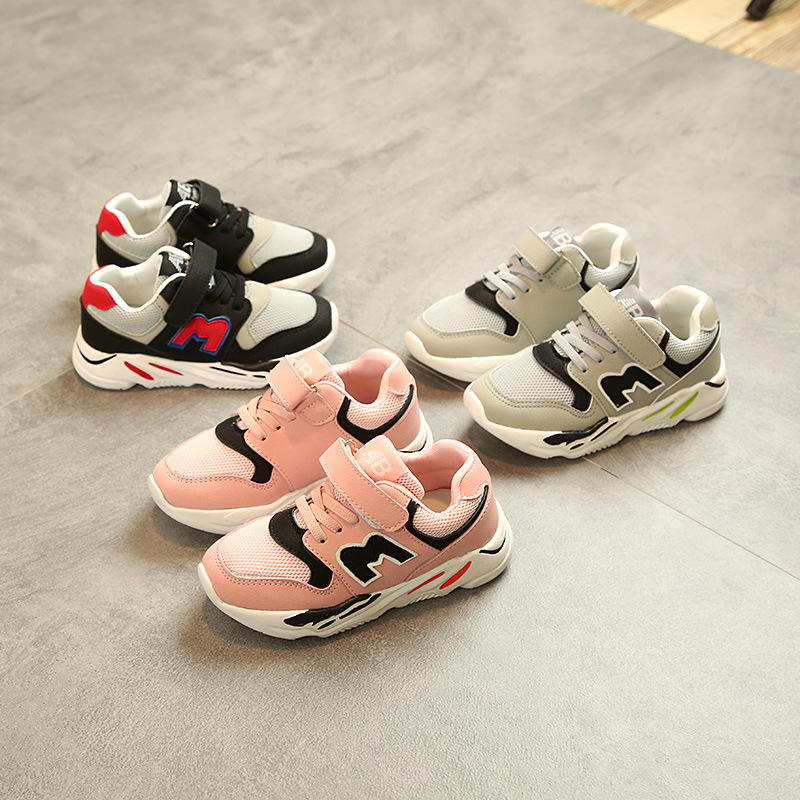 2018 All season breathable light children shoes casual classic sports sneakers kids excellent patchwork baby boys girls shoes