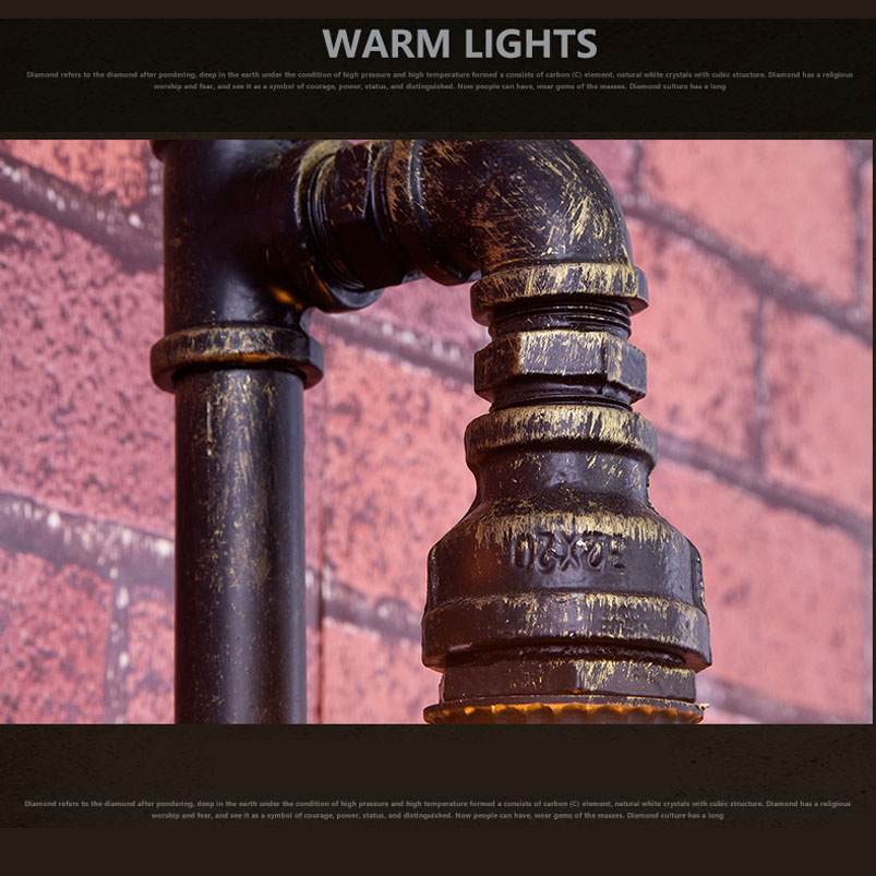 Vintage industry steam punk lamp loft wall lamp restaurant bar club porch corridor cafe light sconce water pipe edison E27 bra in LED Indoor Wall Lamps from Lights Lighting