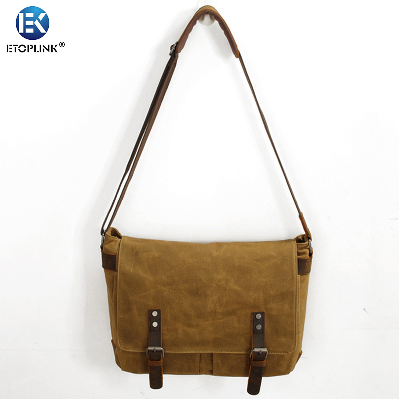 Waterproof Oil Wax Canvas Bag Leisure Point /& Shoot Camera Instant Camera Bag for Daily Use,Travel,grayishgreen Outdoor Shoulder Bag