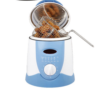 цена на Smokeless multifunctional frying pan 0.9L Mini electric oil fryer oven French fries Grill Chicken Fried Fish Pot machine